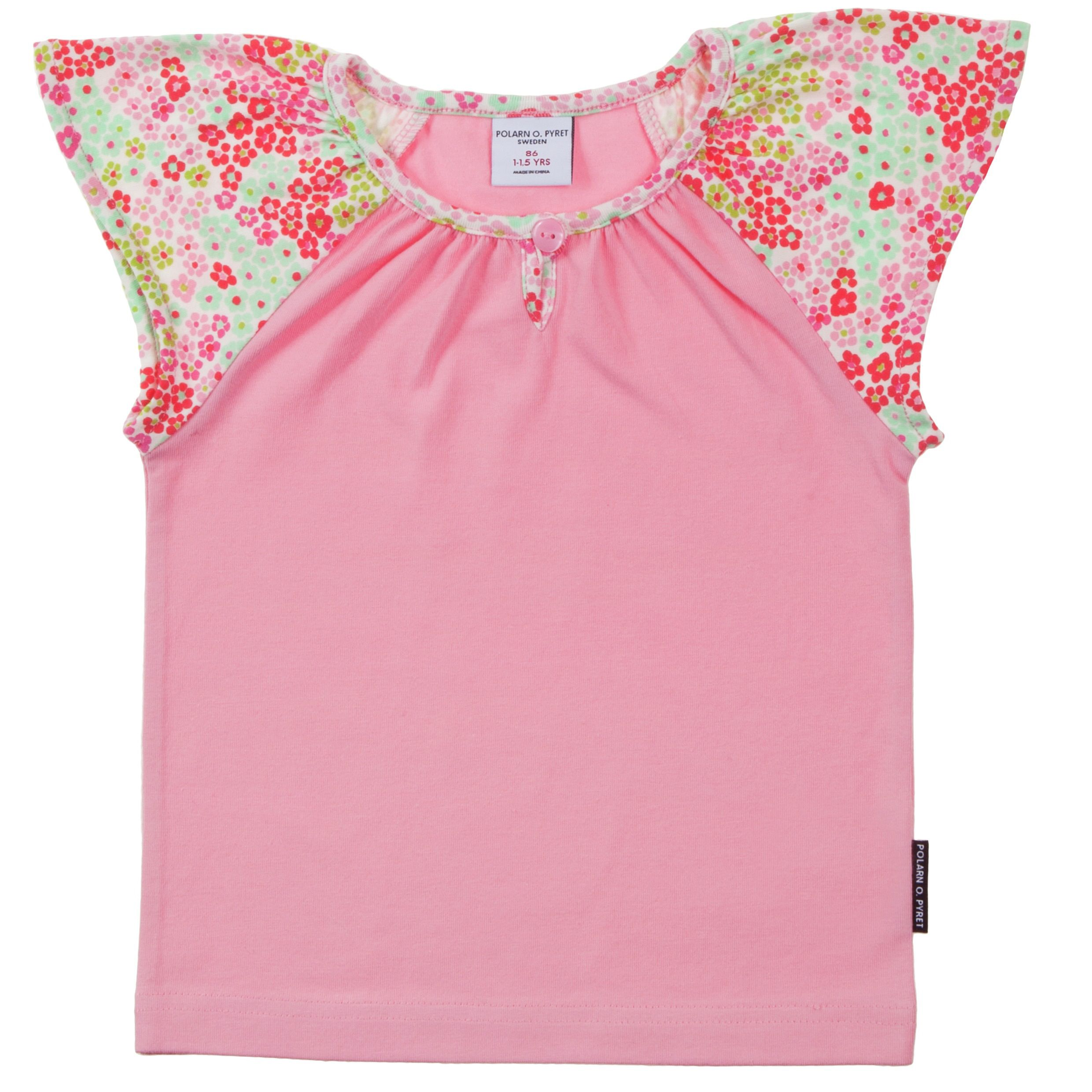 Baby girls pink ruffle sleeve top