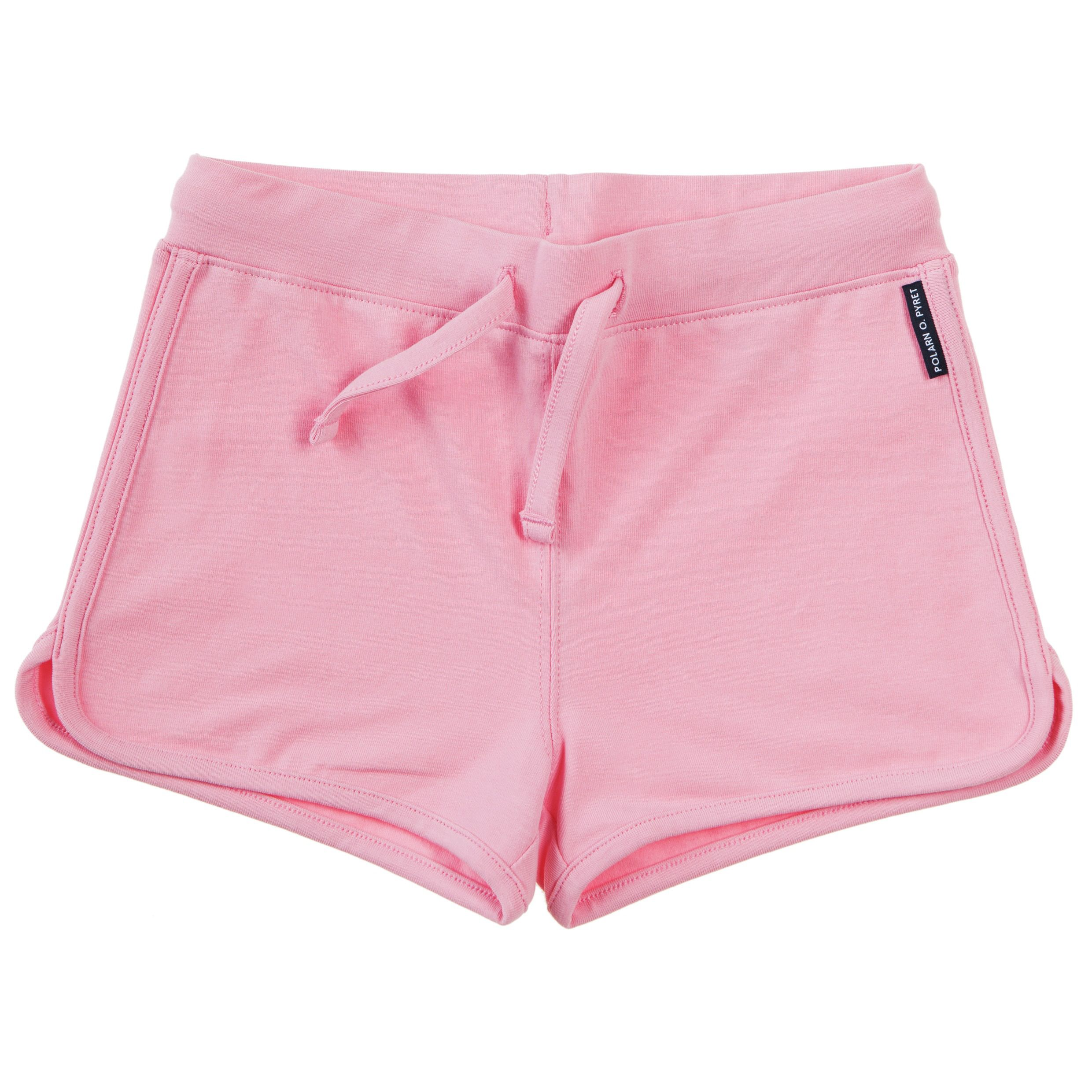 Girls plain pink shorts