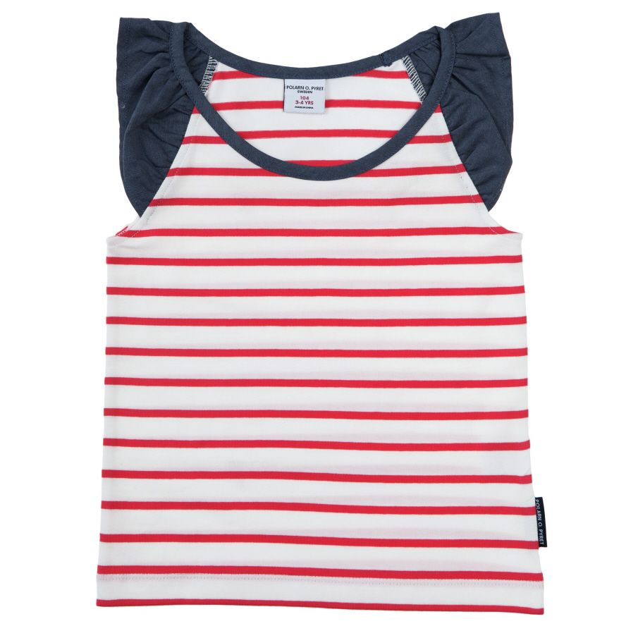 Girls spring stripe vest top