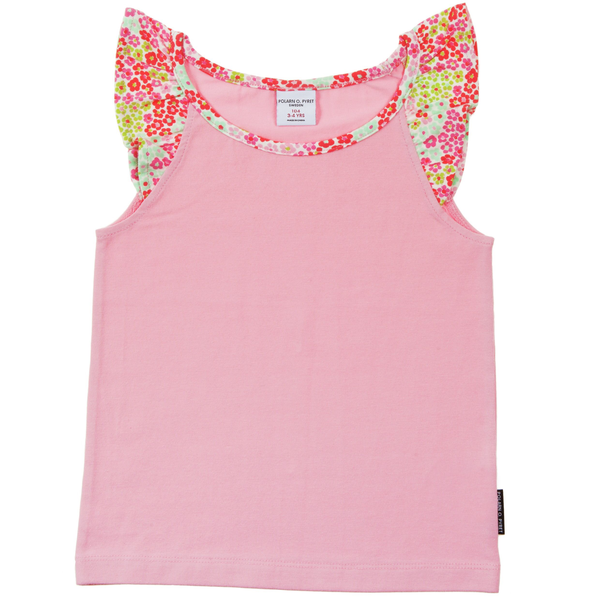 Girls floral cap sleeve t-shirt