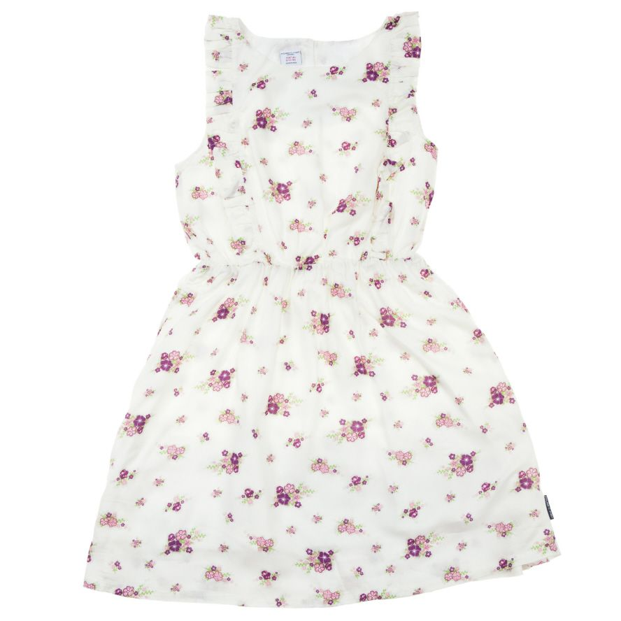 Girls floral frill dress
