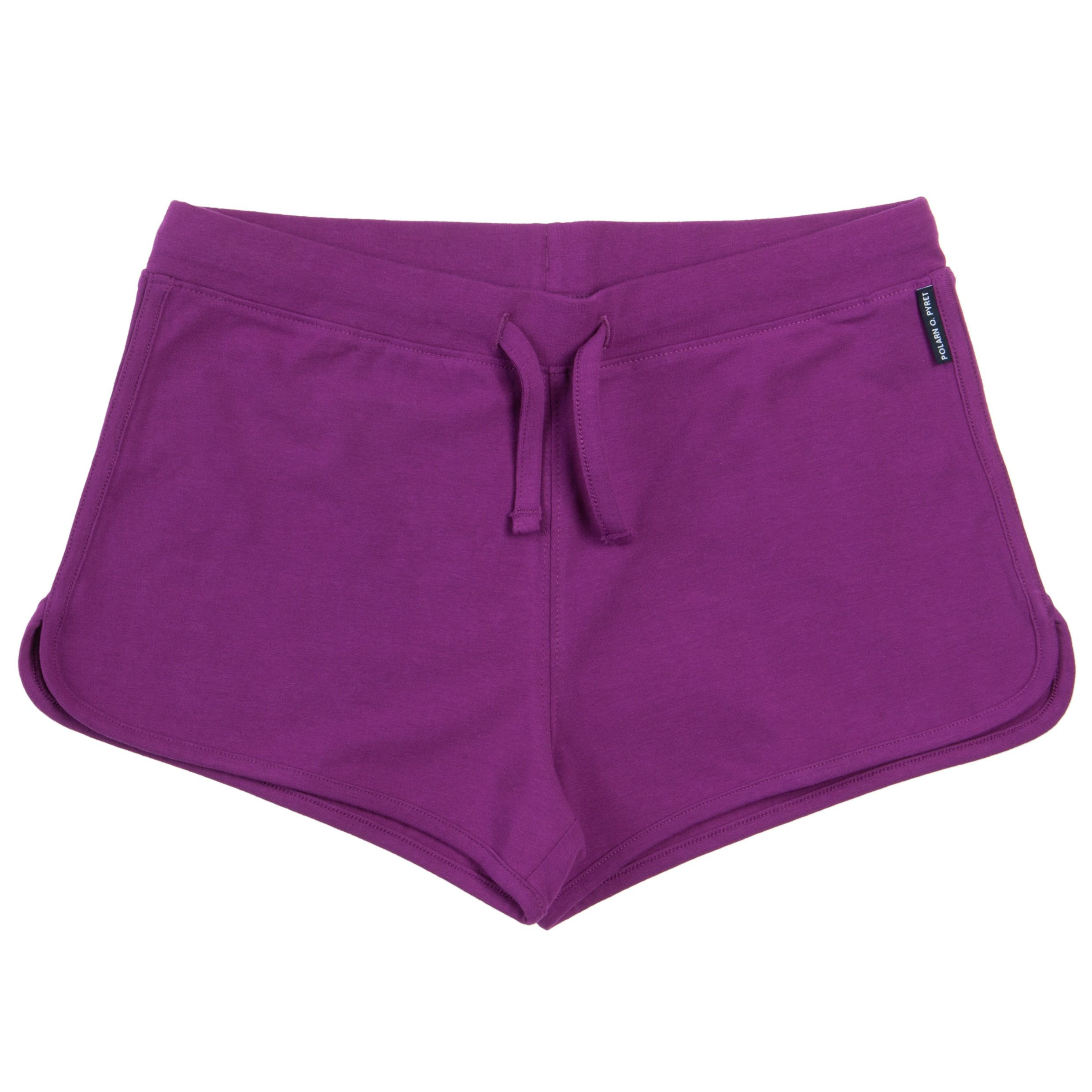 Girls plain purple shorts