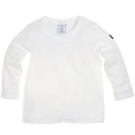 Polarn O. Pyret Babys ribbed classic white top