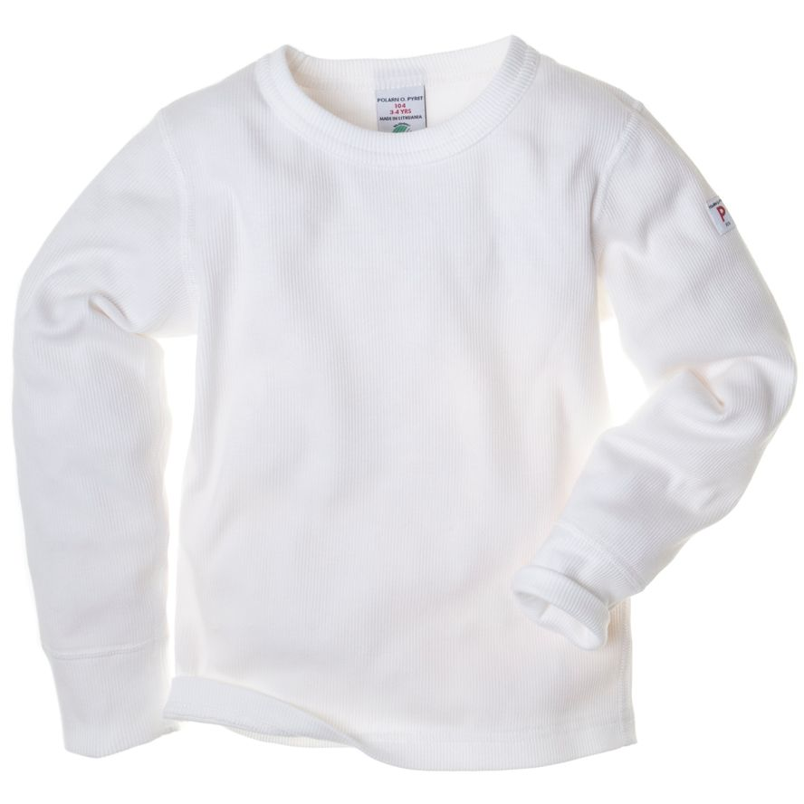 Kids ribbed classic white top