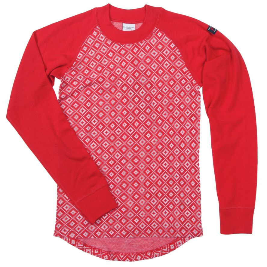 Kids merino wool jacquard top