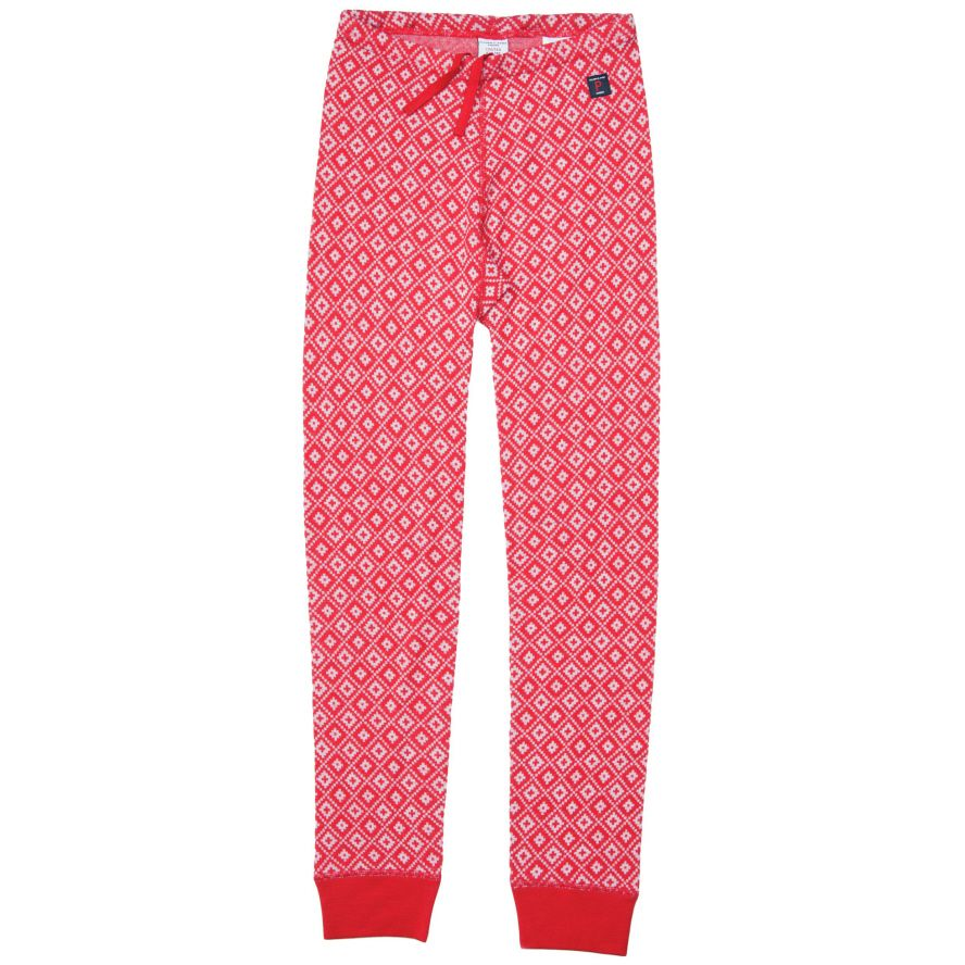 Kids merino wool jacquard long johns