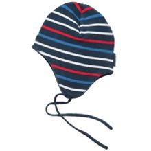 Babys cotton knit striped beanie