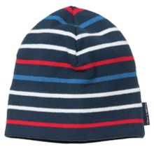 Kids cotton knit striped beanie