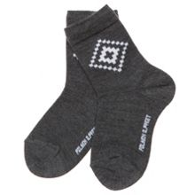 Kids jacquard wool socks