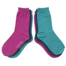 Kids 3 pack of plain socks