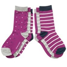 Kids 3 pack of spots and stripes socks