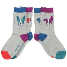 Babys 2 pack of dog print socks