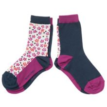 Kids 2 pack of floral socks