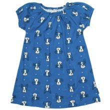 Kids dog print dress
