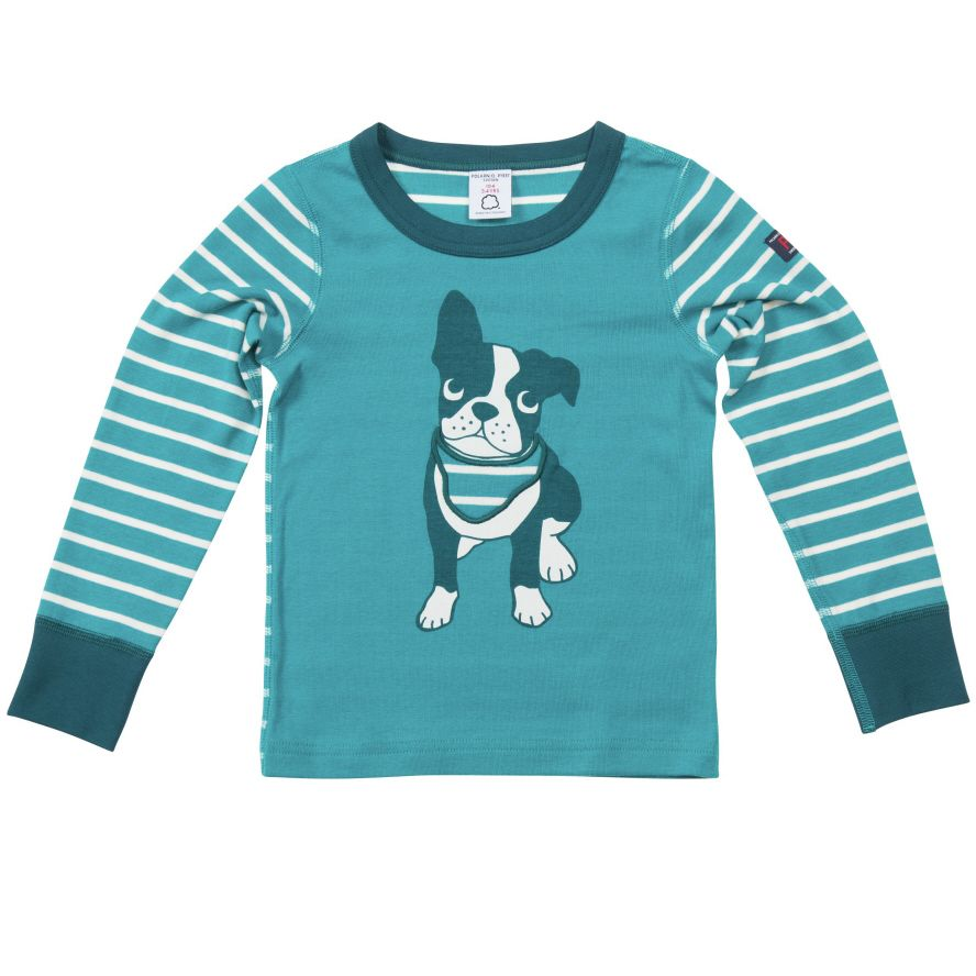 Kids stripe frontprint t-shirt