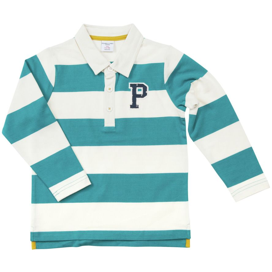 Babys block stripe polo top