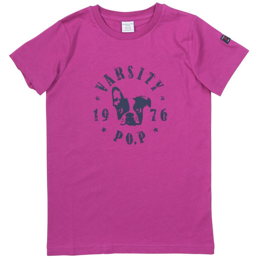 Kids dog motif t-shirt