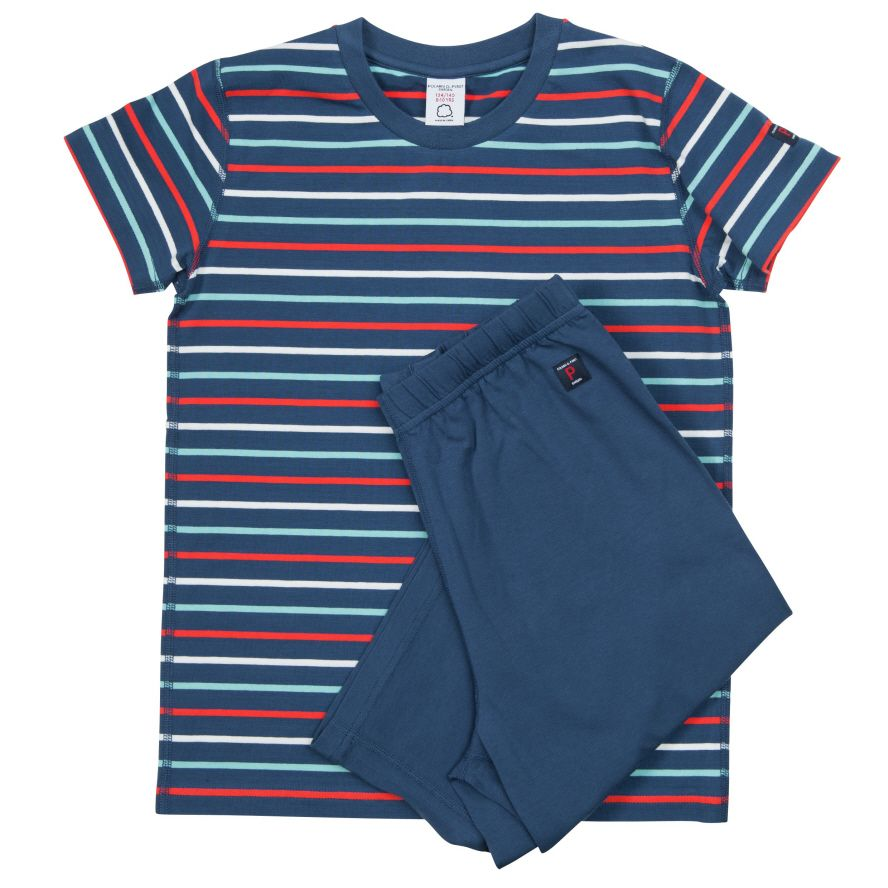 Kids po.p stripe short sleeve pyjamas