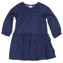 Baby girls fox and spot print dress