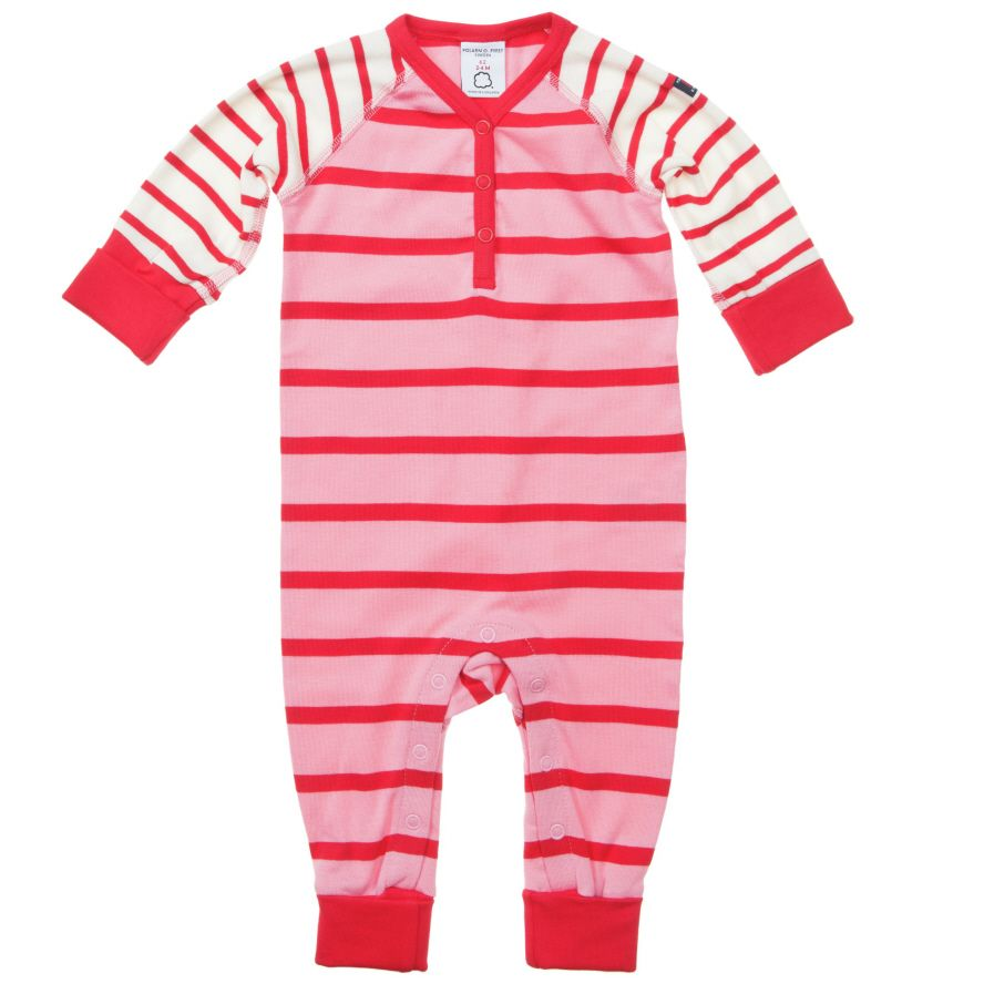 Babys po.p stripe  all-in-one