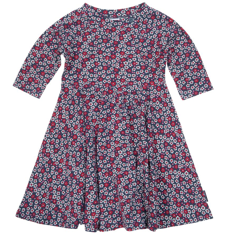 Girls flower and spots dress