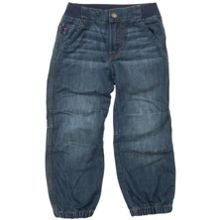 Babys mid blue ribbed waist jeans