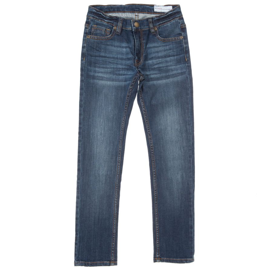 Kids slim fit mid blue jeans