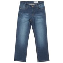 Kids regular fit mid blue jeans
