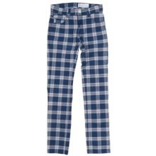 Kids checked slim fit jeans