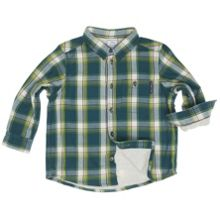 Boys lined checked shirt