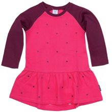Girls embroidered heart dress