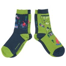 Kids cityscape socks, 2 pack