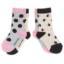 Baby girls heart and spot socks 2 pack