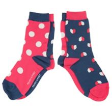Girls heart and spot socks 2 pack