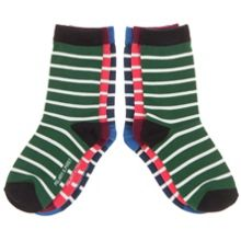 Babys 3 pack of striped socks