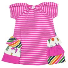 Girls po.p stripe dress