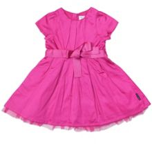 Baby girls satin party dress