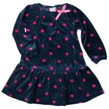 Baby girls soft velour dress