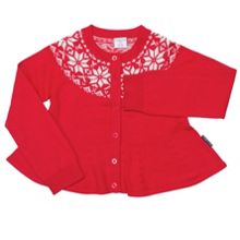 Girls swedish snowflake cardigan
