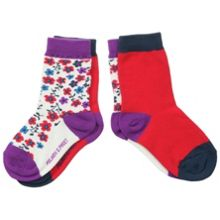 Baby girls 2 pack floral socks