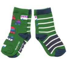 Baby boys 2 pack vehicle print socks