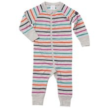 Baby merino wool multistripe all-in-one