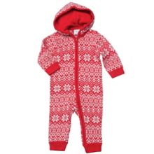 Baby swedish snowflake knitted overall