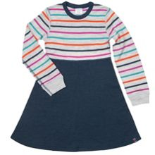 Baby merino wool multistripe dress