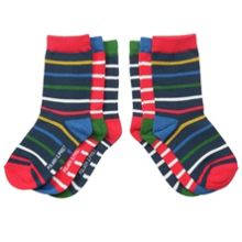 Kids 3 pack po.p stripe socks