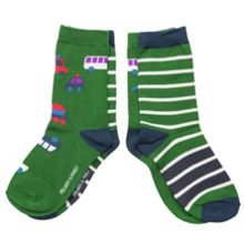 Boys 2 pack vehicle print socks