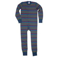 Kids po.p stripe all-in-one pyjamas