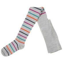 Girls merino wool striped tights