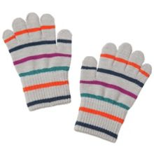 Baby striped wool magic gloves