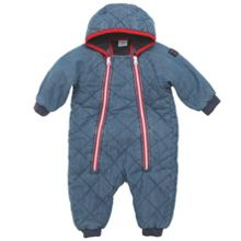 Babies quilted denim all-in-one